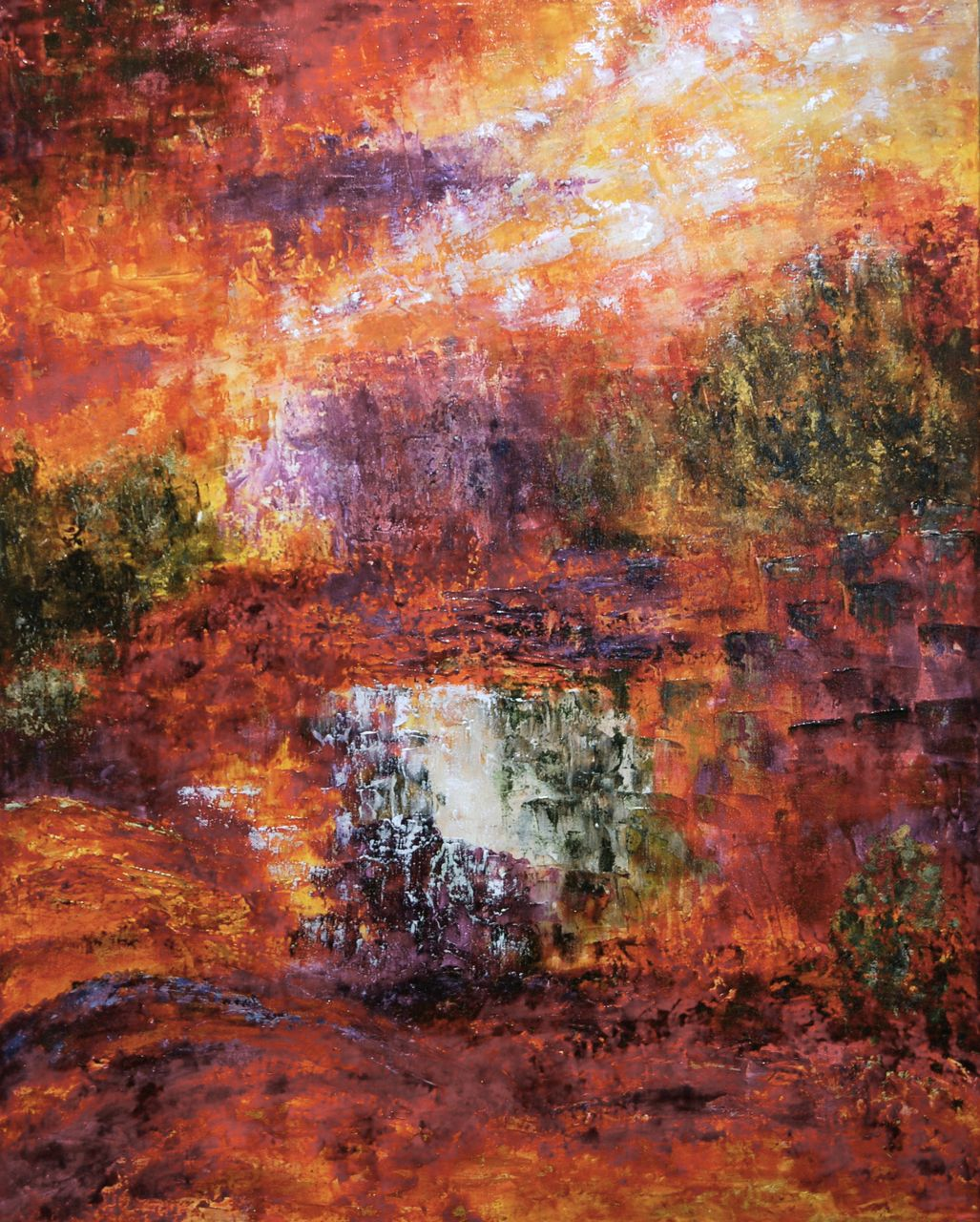 """""""Landscape of a Prayer""""  30x24 symbolizes some of the different ways we think and God speaks."""